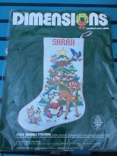 Dimensions Christmas Counted Cross Stitch Kit #8313 Jolly Animals Stocking New