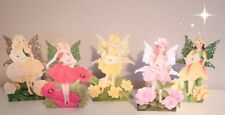 3D Glitter Flower Fairy Birthday Card Personalised Daughter Mum Sister Auntie