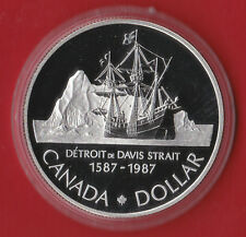 1987 Proof Silver CANADA One Dollar Coin- Comes in Capsule Only ! - Ship