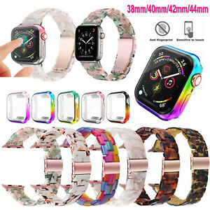 Resin Watch Band Bracelet Wrist Strap For Apple iWatch Series 4 3 2 1 38 40 44mm