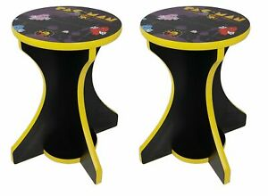 Retro Arcade Stools Pac Man (pair) - used with cocktail table arcade