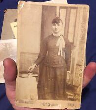 1880s CABINET CARD PHOTO Melcher German Woman O'Quinn Texas Married Saloon Owner