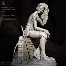 1/24 Resin Injured Goddess Girl Warrior Unpainted Unassembled Td-2708-55