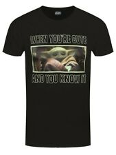 Star Wars Herren T-Shirt Mandalorian Cute And Knows It schwarz