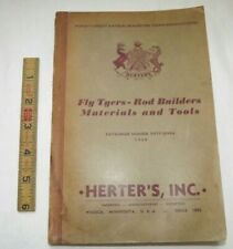 Vintage 1950 Herter's Fly Tyers Tying Rod Building Fishing Catalog Catalogue