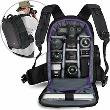 DSLR Camera Backpack Bag Photo Waterproof Professional Case Lenses Laptop Tablet