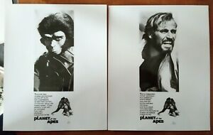 LOT OF 2 POSTER ART PRESS PHOTOS PLANET OF THE APES Charlton Heston