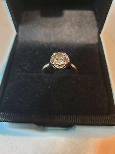 Blue Nile Platinum Diamond Engagement Ring Over 1.2ct