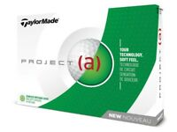 TAYLORMADE PROJECT (a) 1 DOZEN GOLF BALLS 2018 - WHITE - NEW IN BOX