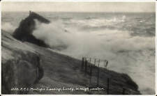 Lundy. HMS Montague Landing in Rough Weather # 6303 by Sweetman.