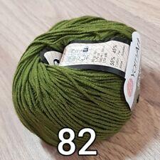 5 x 50g Yarn Art Jeans Cotton/Acrylic Mix Knitting Wool/Yarn green 82