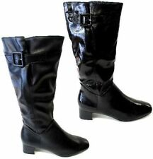 Zip Leather Knee High Boots for Women