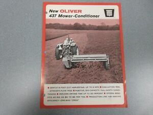 Oliver 437 Mower-Conditioner Sales Brochure 4 Pages 1966