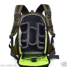 Army Green DSLR SLR Camera Backpack Large Space Photography Bag for Canon Nikon