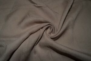 Taupe 100% Rayon Challis Sewing Shirt Apparel Fabric BTY