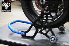 MonkeyBones Billet Aluminium Motorcycle Race Stand - REAR - BLUE