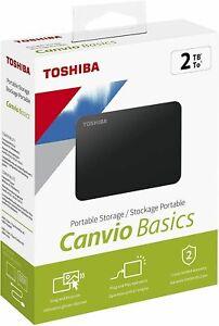 Memoria Esterna HD 2TB Toshiba Hard Disk USB 3.0 Autoalimentato Cavo incluso