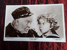 SHIRLEY TEMPLE & GUY KIBBEE -  FILM STARS - CAPTAIN JANUARY - POSTCARD - VG