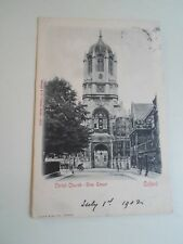 Old Postcard Christ Church Tom Tower Oxford Franked+Stamped 1902  §A1307