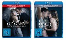 2 Blu-rays * FIFTY SHADES OF GREY - FILM 2+3 IM SET # NEU OVP +