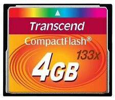 Transcend 4 GB 4GB 133x Speed Compact Flash CF Memory Card - Brand New