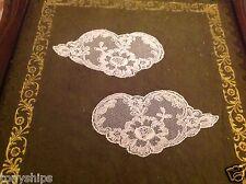 2 x Decorative Lace Wings - Vintage