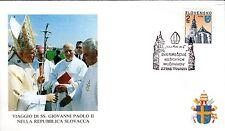 313- FDC VATICAN VISITE PAPE JEAN PAUL II  EN SLOVAQUIE