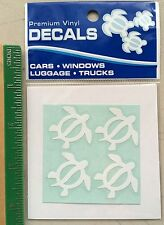 """Hawaiian Car Window Vinyl Stickers Decal 4 Small 1"""" Turtles Honu Hawaii island N"""