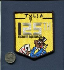 125th TFS 25th Anniversary ANG USAF F-16 FALCON Fighter Squadron Patch