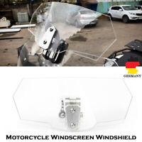 Motorrad Einstellbare Clar Windschutzscheibe Spoiler Windabweiser Windschild DE