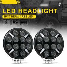 2x 9Inch Round LED Work Light Spot Driving Lamp Headlight offroad Truck 120W