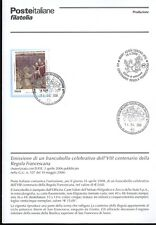 ITALY 2008 RULE FRANCISCAN BULLETIN COMPLETE STAMPS CANCELLATION FDC