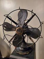 """WESTINGHOUSE  VERY RARE ELECTRIC FAN VINTAGE ANTIQUE 10"""" WORKING"""