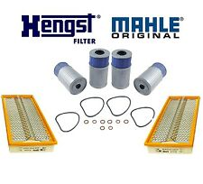 Set of 4 Hengst Oil Filters + 2 Mahle Air Filters Kit For Mercedes W201 190D 2.5