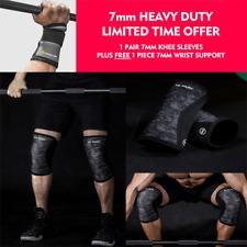 Knee Sleeves Brace 7mm Wrist Wrap Strap Patella Crossfit Fitness Lifting Squats