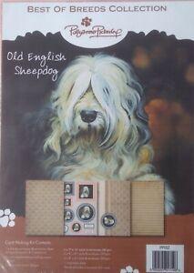 Pollyanna Pickering Best of Breeds Die Cut Decoupage Kit Old English Sheepdog