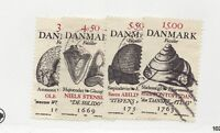 DENMARK Sc #1106-09 Θ used set of Fossils Fossiler, postage stamps