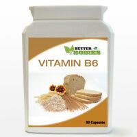 90 Vitamin B6 High strength Potency 122mg  Capsules reduces tiredness fatigue