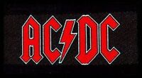 AC/DC logo WOVEN SEW ON PATCH official merchandise - angus young