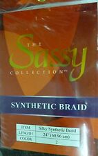 "HAIR EXTENSION SILKY SYNTHETIC BRAID THE SASSY COLLECTION 24"" brown NEW!"