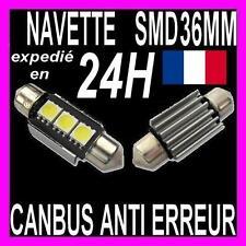 AMPOULE NAVETTE A 3 LED C5W 36MM ANTI SANS ERREUR CANBUS PLAFONNIER PLAQUE XENON