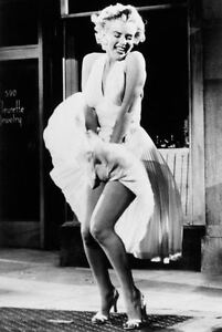 ICON! MARYLIN MONROE SKIRT POSTER PRINT WALL ART SIZE A1 /A2 /A4 (v1)