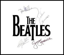 Beatles Logo and Autographs Reproduced on Fridge Magnet