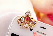Diamond Crown Anti Dust Plug for iPhone 4 4s,Galaxy s3 s4 & 3.5mm Earphone Jack