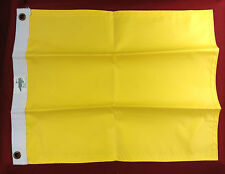 "QUARANTINE TOURNAMENT FISH FISHING FLAG YELLOW NYLON 2 PLY 11"" x 14"""