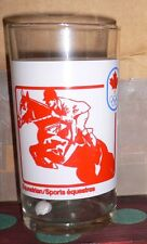 1976 OLYMPIC GAMES MONTREAL Canadian Olympic Sport Glass Hockey & Equestrian