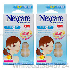 3M NEXCARE ACNE DRESSING PIMPLE STICKERS PATCH ULTRA THIN 30PCS (2X PACK)