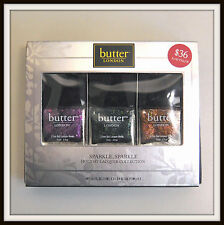 butter LONDON SPARKLE HOLIDAY LACQUER COLLECTION Trio Full SZ New in Box 3 Color