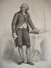 EMPIRE & RÉVOLUTION / GRAVURE 1840 / CONDORCET