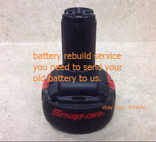 Battery Rebuild Service For SNAP ON 12V  CTB2512 2.0Ah Drill Wrench Impact